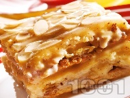 Домашна бисквитена торта с орехи и стафиди